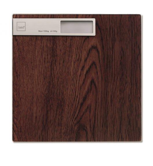 KELA Waga łazienkowa 30 x 30 cm FILIS drewno orzechowe / FreeForm