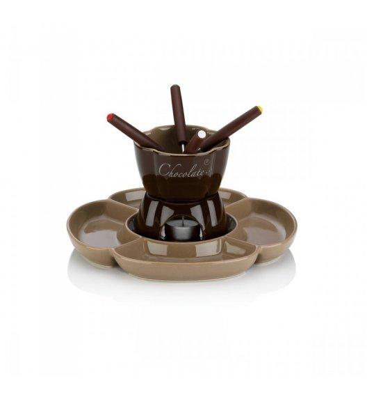 KELA Zestaw do fondue czekoladowego dla 4 osób 0,25 l FIORE ceramika / FreeForm