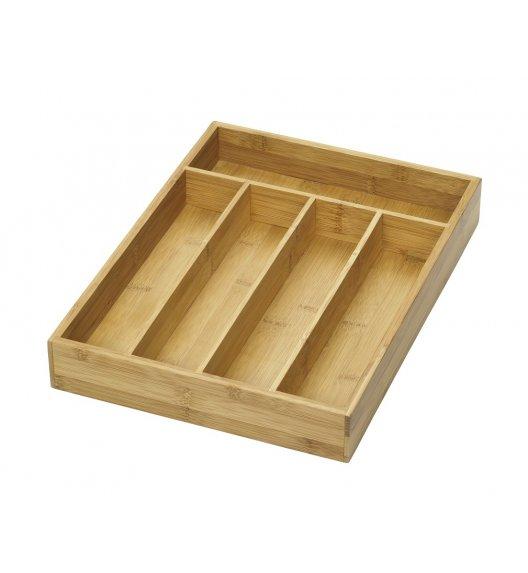 LURCH Drewniany wkład na sztućce i przybory kuchenne / 5 przegródek / drewno bambusowe / FreeForm