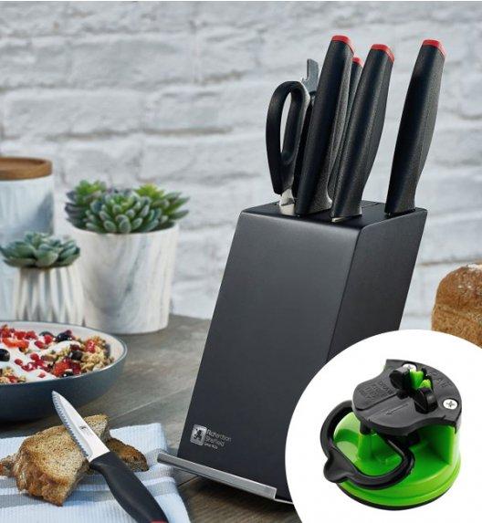AMEFA RICHARDSON SHEFFIELD Noże kuchenne Laser Cuisine 6 el w bloku / technologia laserowa + ostrzałka gratis 29 zł / stal nierdzewna