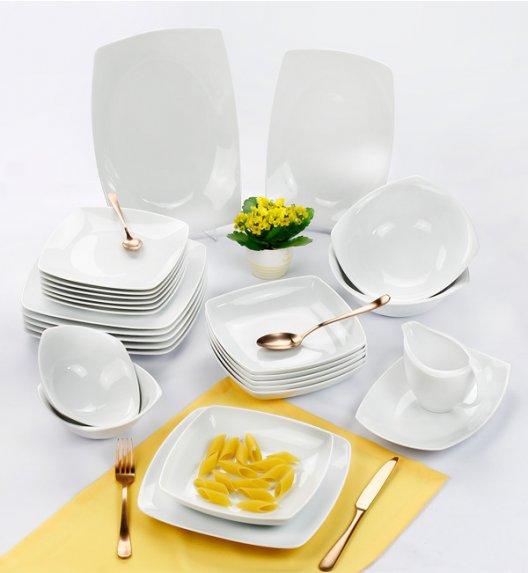 CHODZIEŻ AKCENT Serwis obiadowy 44 el / 12 osób / porcelana