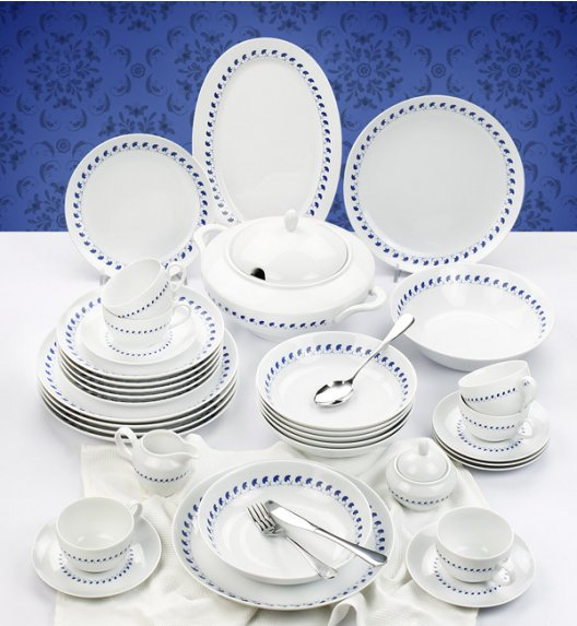 CHODZIEŻ RITA K280 Serwis obiadowo-kawowy 65 el / 12 osób / porcelana