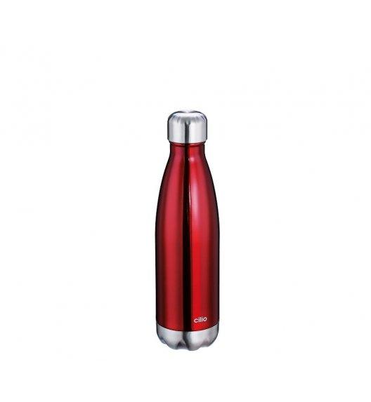 CILIO Termiczna butelka stalowa 0,5 l / czerwona / stal nierdzewna / FreeForm