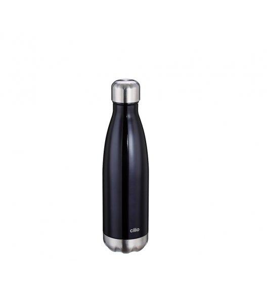 CILIO Termiczna butelka stalowa 0,5 l / czarna / stal nierdzewna / FreeForm