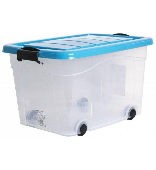 ODELO PLASTIC Skrzynia do przechowywania 40 L  / turkusowe zamknięcie na klips / OD8017