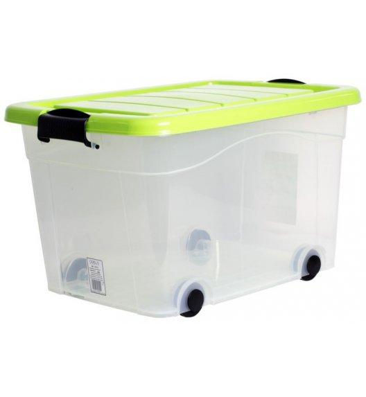 ODELO PLASTIC Skrzynia do przechowywania 20 L  / zielone zamknięcie na klips / OD8012