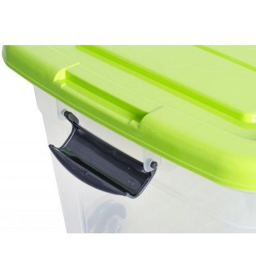 ODELO PLASTIC Skrzynia do przechowywania 20 L  / malinowe zamknięcie na klips / OD8011