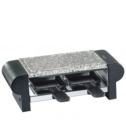 KUCHENPROFI Raclette / grill stołowy dla 2 osób, czarny / stal nierdzewna FreeForm