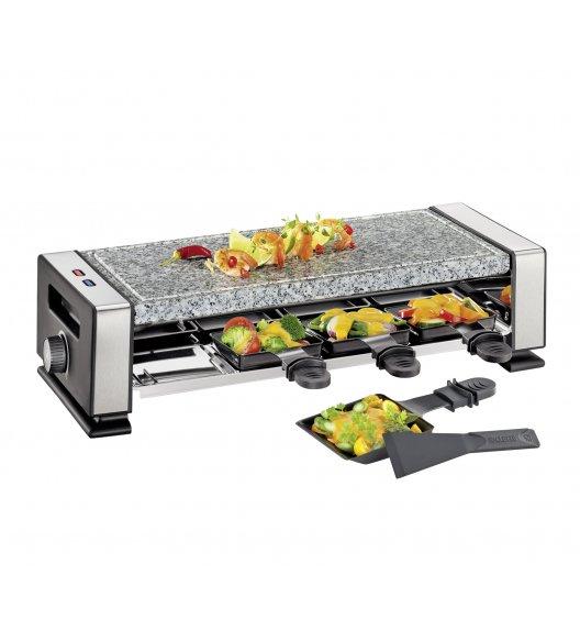 KUCHENPROFI Raclette / grill stołowy dla 8 osób VISTA8 / stal nierdzewna / FreeForm