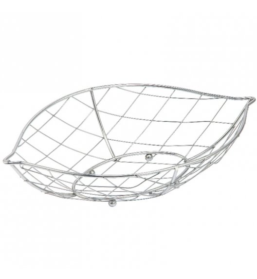 TADAR STRAPPARE Koszyk na owoce łezka 32 cm / stal chromowana