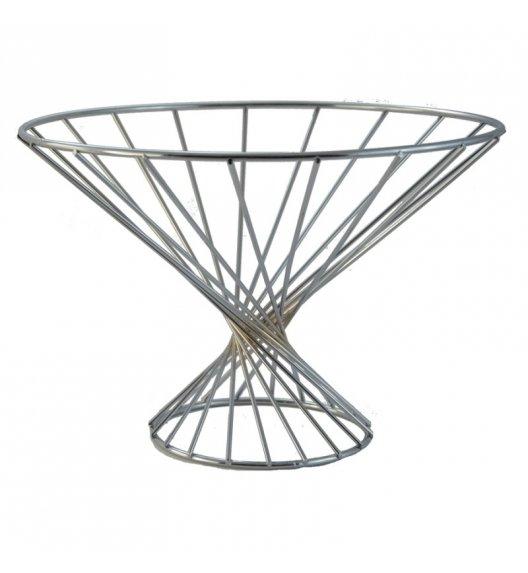 TADAR GAMBA Koszyk na owoce na nóżce ⌀ 19,5 cm / stal chromowana