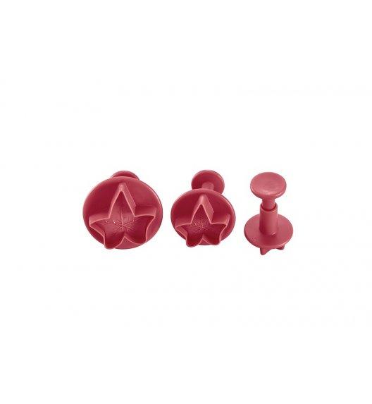 LURCH 3 Wykrawacze do dekoracji z lukru, różowe / tworzywo sztuczne / FreeForm