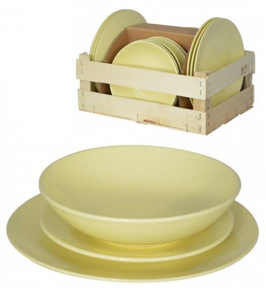 WYPRZEDAŻ! TADAR EGE Serwis obiadowy 36 elementów dla 12 osób żółty / ceramika