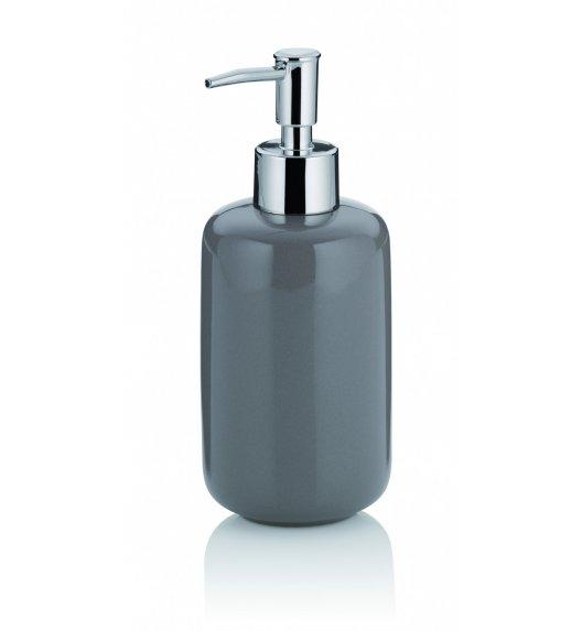 KELA Ceramiczny dozownik na mydło w płynie 0,40 l ISABELLA szary / FreeForm