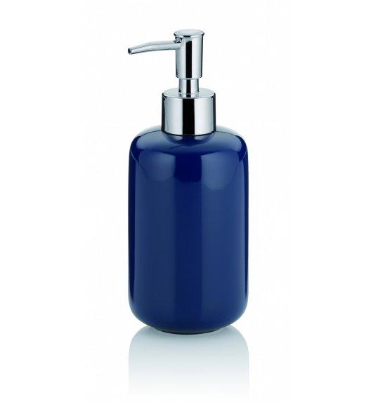 KELA Ceramiczny dozownik na mydło w płynie 0,40 l ISABELLA granatowy / FreeForm