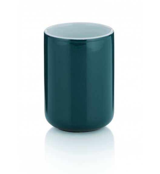KELA Ceramiczny kubek łazienkowy ⌀ 7,5 cm, ciemnozielony ISABELLA / FreeForm
