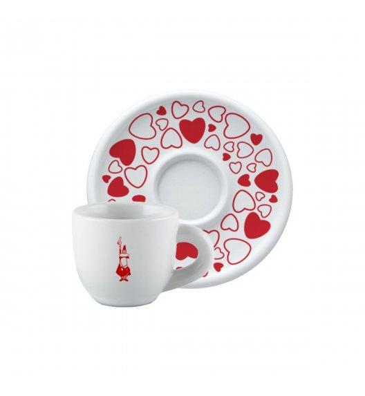 BIALETTI CUORE Filiżanka ze spodkiem cappuccino 240 ml / porcelana / scapol