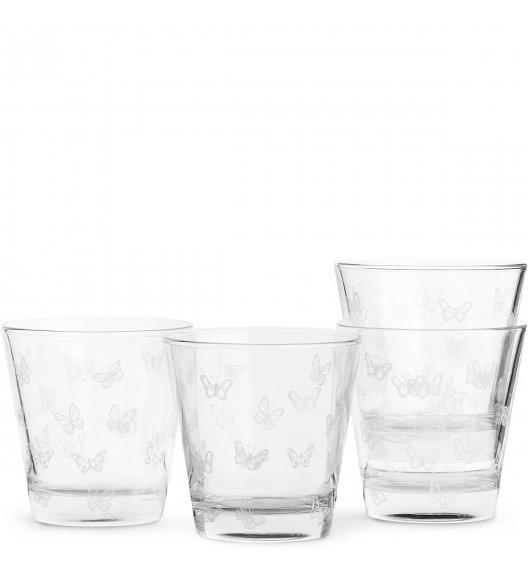 WYPRZEDAŻ! SAGAFORM Zestaw 4 szklanek 0,2 l butterfly KITCHEN białe / FreeForm