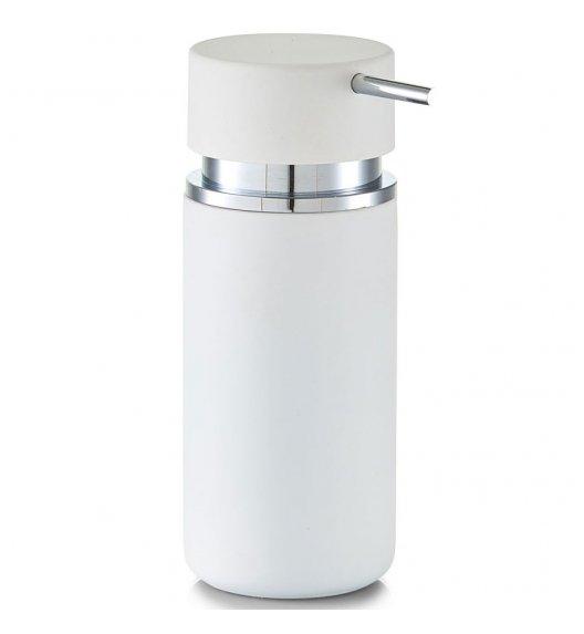 ZELLER RUBBER Dozownik do mydła w płynie 16 cm biały / ceramika