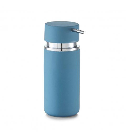 ZELLER RUBBER Dozownik do mydła w płynie 16 cm niebieski / ceramika