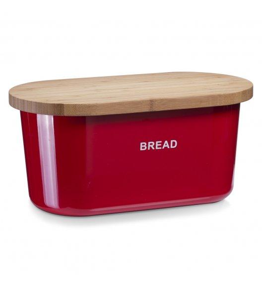 ZELLER BREAD Chlebak z deską do krojenia 2w1 / 39 cm / czerwony / tworzywo sztuczne