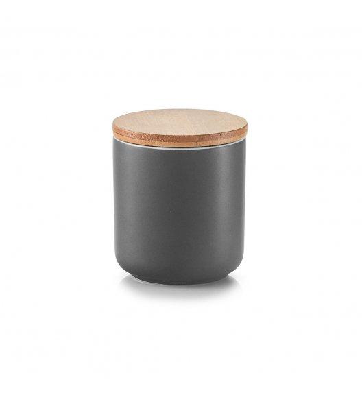 ZELLER ANTRACYT Pojemnik z bambusową pokrywką 200 ml / ceramika