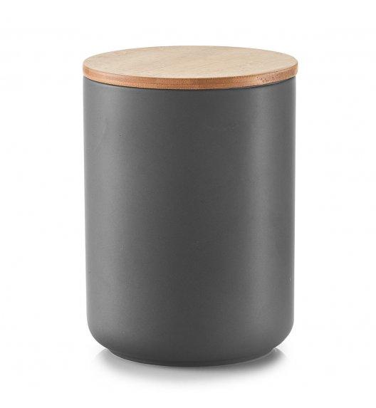 ZELLER ANTRACYT Pojemnik z bambusową pokrywką 1150 ml / ceramika