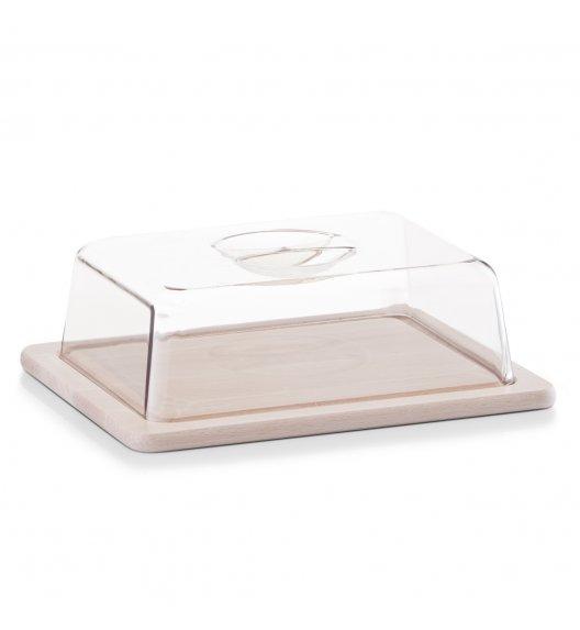 ZELLER Pojemnik z przykrywką na masło 25 cm / drewno bukowe