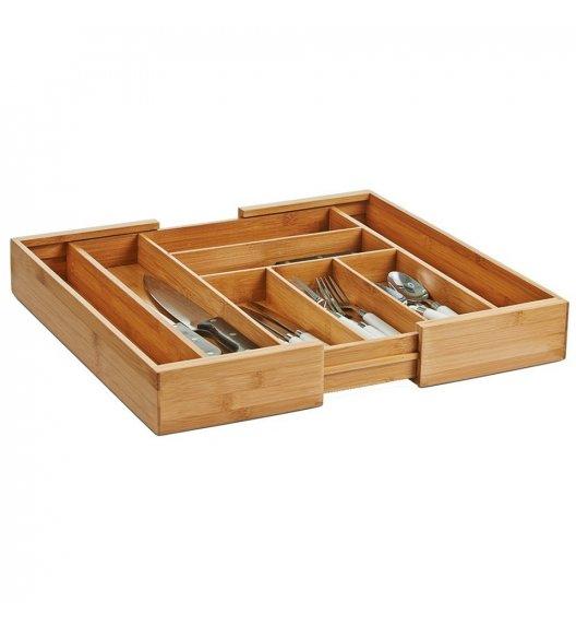 ZELLER Rozsuwany wkład na sztućce i przybory kuchenne / 6 lub 8 przegródek / drewno bambusowe