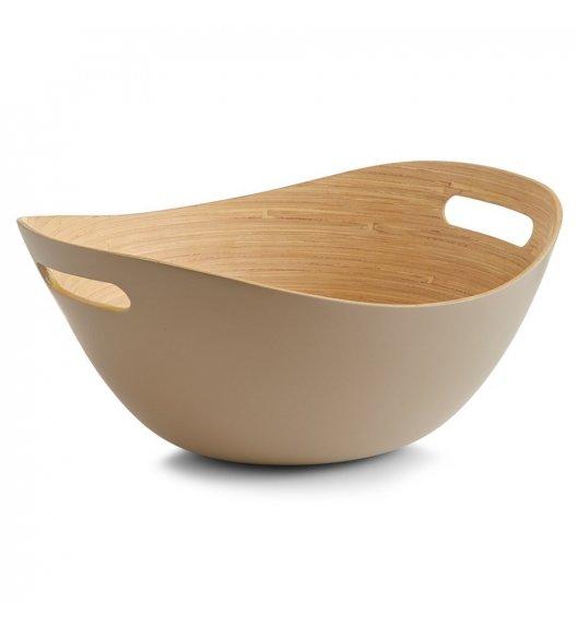 ZELLER Miska do serwowania owoców, przekąsek, sałatek 30 cm / drewno bambusowe