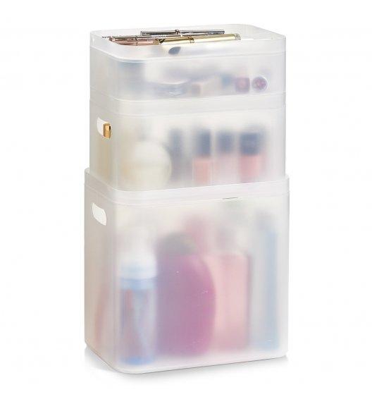 ZELLER 3-częściowy organizer na kosmetyki M / tworzywo sztuczne