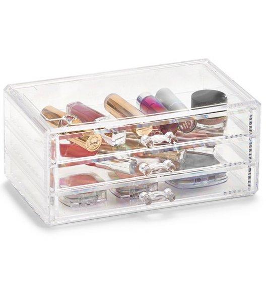 ZELLER Oganizer na kosmetyki z 3 szufladami 24 cm / tworzywo sztuczne