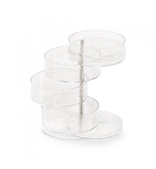 ZELLER Obrotowy organizer na kosmetyki 4 poziomy Ø11,5 cm / tworzywo sztuczne