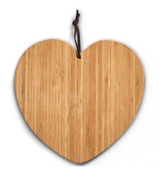 ZELLER HEART Deska do krojenia 28 cm / bambus