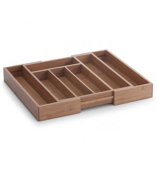 ZELLER Regulowany wkład na sztućce i przybory kuchenne / 5 lub 7 przegródek / drewno bambusowe