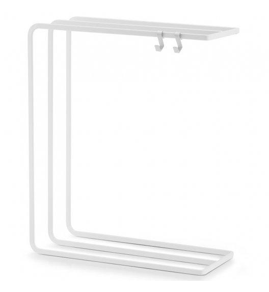 ZELLER Stojak na ręczniki i przybory kuchenne 30 cm biały / metal