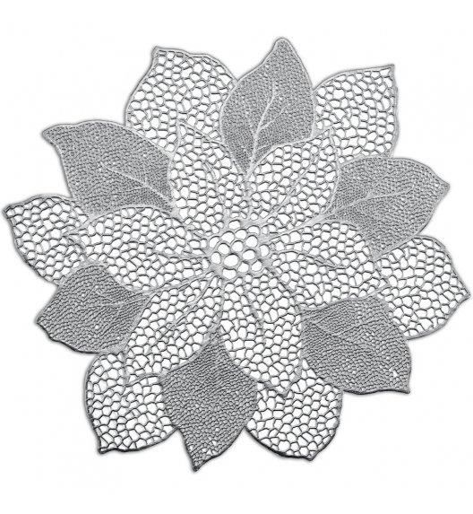 ZELLER FLOWER Podkładka na stół 49x47 cm srebrna / PVC