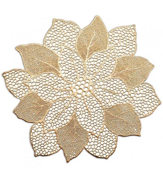 ZELLER FLOWER Podkładka na stół 49x47 cm złota / PVC