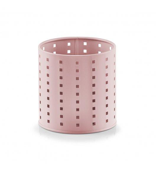 ZELLER Okrągły pojemnik / ociekacz na przybory kuchenne Ø12,6 x 13 cm / różowy / metal