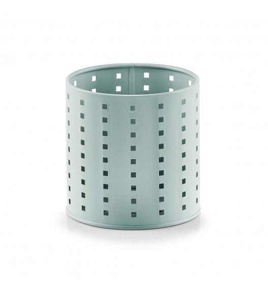 ZELLER Okrągły pojemnik / ociekacz na przybory kuchenne Ø12,6 x 13 cm / miętowy / metal