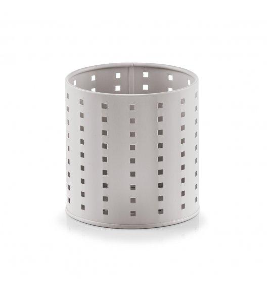 ZELLER Okrągły pojemnik / ociekacz na przybory kuchenne Ø12,6 x 13 cm / szary / metal
