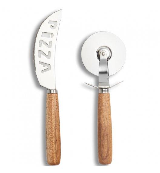 ZELLER Zestaw profesjonalnych noży do cięcia pizzy 2 szt / stal nierdzewna