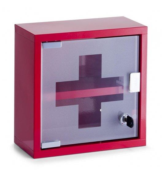ZELLER Szafka na lekarstwa 12 x 25 cm / czerwony / 2 poziomy / metal