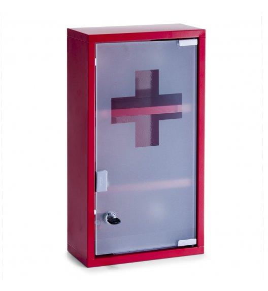 ZELLER Szafka na lekarstwa 12 x 25 x 45 cm / czerwony / 3 poziomy / metal