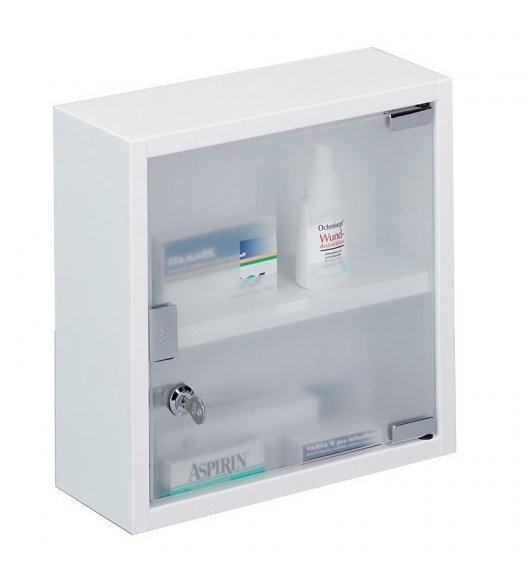 ZELLER Szafka na lekarstwa 30 x 12 cm / biała / 2 poziomy / stal nierdzewna