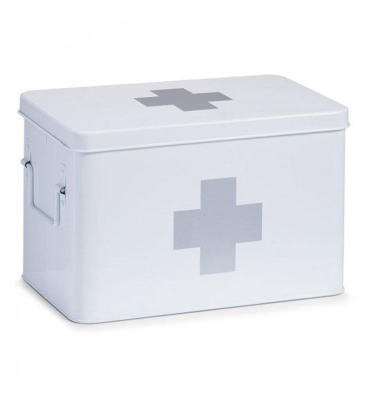 ZELLER Pudełko na lekarstwa 20 x 32 cm / białe / metal