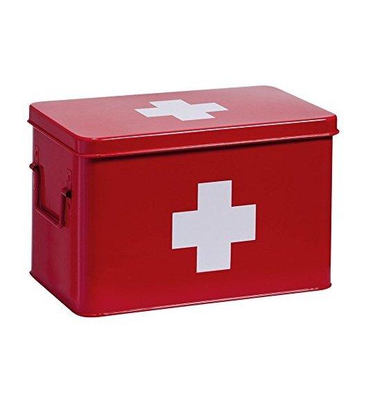 ZELLER Pudełko na lekarstwa 20 x 32 cm / czerwone / metal