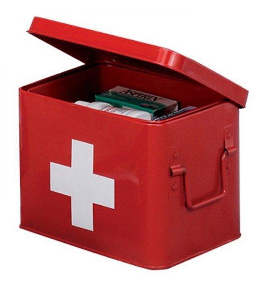 ZELLER Pudełko na lekarstwa 16 x 21,5 cm / czerwone / metal