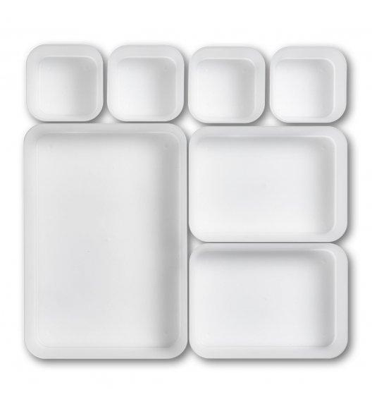 ZELLER Organizer do szuflady na sztućce 7-częściowy / biały / tworzywo sztuczne