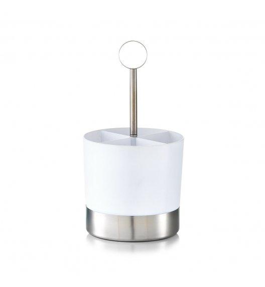 ZELLER Okrągły pojemnik na sztućce Ø14 x 25 cm / biały / tworzywo sztuczne